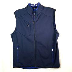 RLX Ralph Lauren Vest. Sleeveless, Full Zipper. Right Chest Pocket, Side Pockets. Interior Pockets. | eBay!