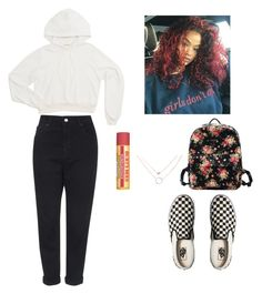 Untitled #302 by vinillabean01 on Polyvore featuring polyvore fashion style Topshop Vans Burt's Bees clothing