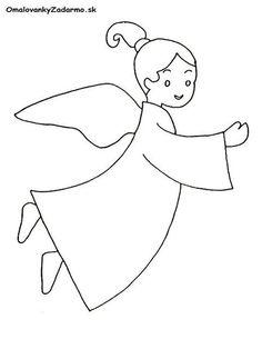 Výsledok vyhľadávania obrázkov pre dopyt anjelik omalovanky