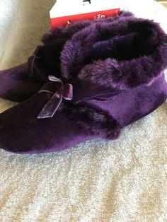 Ladies Pink /& Blue Rainbow Faux Fur Pom Pom Trim Slipper Boots in 3 UK Sizes