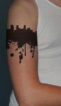 city skyline tattoo 2016