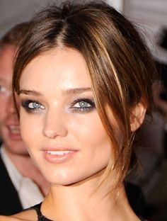 smudged smokey eye. miranda kerr