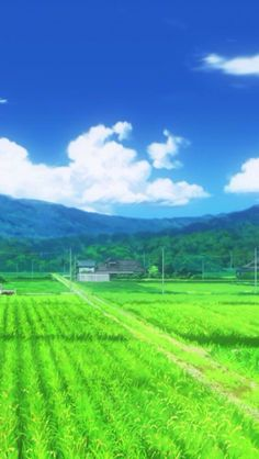 This scenery looks like it's from the anime Silver Spoon. Animation Background, Art Background, Landscape Wallpaper, Landscape Art, Wallpaper Animes, Wallpaper App, Unique Wallpaper, Graphisches Design, Environment Concept