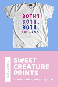 Show off your bisexual pride with this lgbt bisexual shirt! Let the world know you are bi and you are proud of your sexuality! Click through to grab yours. Gay Shirts, Funny Shirts, Bisexual Pride, Lgbt, Pride Outfit, Mode Chic, Graphic Tees, Small Businesses, Unisex