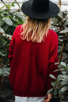 We can almost guarantee this red wool turtleneck will be your new #1 sweater of the season.