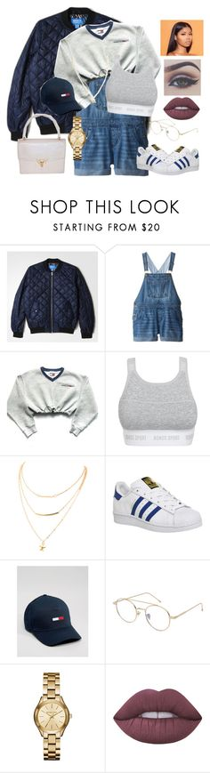 """Brooklyn Babe"" by iiamtazz ❤ liked on Polyvore featuring adidas, Tommy Hilfiger, Bonds, MANGO, Michael Kors, Lime Crime, Gucci and Bellezza"