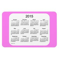2015 Calendar Violet 4x6 Magnet Design from Calendars by Janz