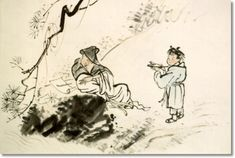 (Korea) 귀거래도 by Jang Seung-eop (1843- 1897). aka Owon. color on hanji.