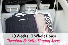 40 Weeks 1 Whole House: Week 4: Donation & Sales Staging Areas