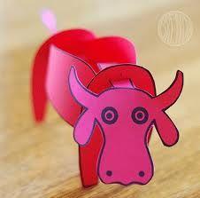 Pink cow crafts
