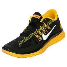 Nike Free 5.0 Mens Review Running Shoe Black Varsity Maize 579745 002
