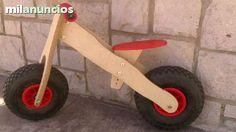 . Esta bici de madera ha sido dise�ada para brindar al ni�o seguridad y destreza motriz.pasando de bici a bicicleta clasica pero sin rueditas, no las necesitan�� -sin pedales -color rojo  -ruedas neumaticas con rodamiento -de 2 a 6 a�os