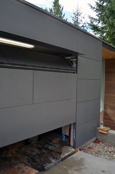 Flush Garage Door Installation, GARAGE-DOOR-PANELING-SWISS-PEARL-2