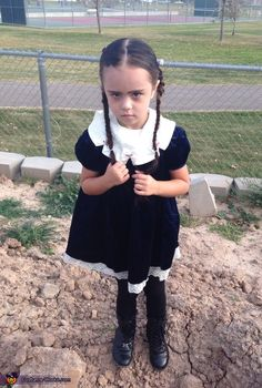 Aly: 4 year old Matisse looks like the real Wednesday Addams. With her mothers hair extensions braided in her short hair and white makeup. Many people would ask how we got...