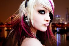 Pink black and blonde hair. Black And Blonde, Pink Black, Punk Princess, Cool Hair Color, Hair Colors, Hair Restoration, Cut And Color, Pretty Hairstyles, Hairstyles 2016
