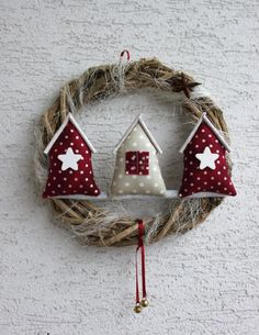 Meant for Christmas but can be used year round Xmas Crafts, Christmas Projects, Felt Crafts, Fabric Crafts, Christmas Ideas, Christmas Makes, Winter Christmas, Christmas Time, Felt Christmas Ornaments