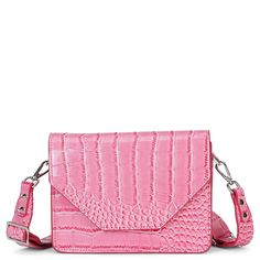 Rosemary skuldertaske fra Unlimit i rose croco print Colorful Fashion, Pastels, Kate Spade, Rose, Clothes, Style, Velvet, Outfits, Swag