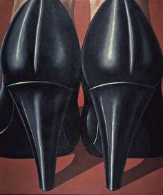 'Lady's feet' (1969) by Italian Hyperrealist painter Domenico Gnoli (1933-1970). Acrylic on canvas, 73.625 x 63 in. collection: Von der Heydt-Museum, Wuppertal. via Atlante dell'arte italiana
