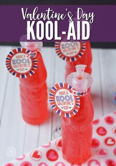 Have a Kool Valentines Day Printable for Kool-Aid Jammers. This is a Fun Valentine