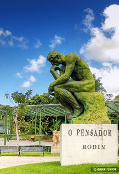 "replica of Rodin's ""The Thinker"" sculpture at the Instituto Ricardo Brennand in Recife Pernambuco Brazil Wassily Kandinsky, Central America, South America, The Thinker Sculpture, Rodin The Thinker, British Overseas Territories, Paris, Belize, Ecuador"