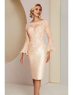 Short Mothers Dress, Mother Of The Bride Dresses Long, Mothers Dresses, Sexy Dresses, Elegant Dresses, Plus Size Dresses, Fashion Dresses, Tulle En Satin, Tulle Lace