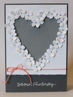 Karte Valentinstag / Valentine Card, Stampin Up, Itty Bitty Akzente Stanzpaket / Accents Punch Pack