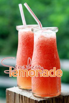Quick and easy Strawberry Lemonade (I'd add a little something to make it an adult drink myself)