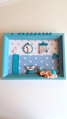 Quadretto nascita ricordo battesimo idea regalo nascita , by Chiara - Creazioni in fimo, 20,00 € su misshobby.com