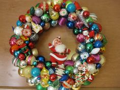Vintage ornament wreath Kitsch ornament by MimisVintageGoodies