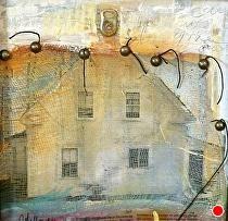"Through the Veil-Mixed Media by Joan Fullerton Mixed Media ~ 12"" x 12"""