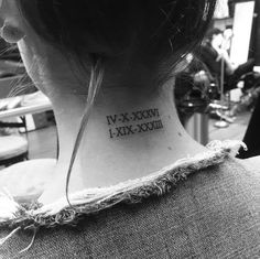 Roman numerals by Christopher Vasquez Mommy Tattoos, Date Tattoos, Family Tattoos, Sister Tattoos, Couple Tattoos, Future Tattoos, Gorgeous Tattoos, Unique Tattoos, Small Tattoos