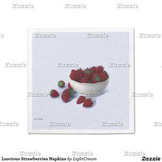 Luscious Strawberries Napkins