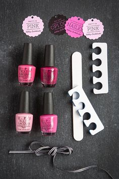 Bachelorette Party Favor Ideas: OPI Nail Polish with Personalized Favor Tags