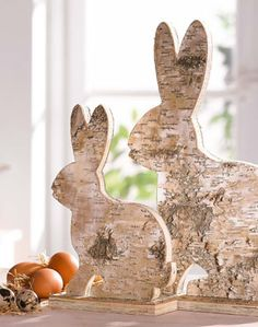 bunny sculptures from living at home magazine
