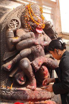 Worshipping Narasimha, Bhaktapur, Nepal
