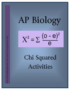 Need some Chi Squared Notes and Hands-On labs to start the year off in your AP Bio course?!  You found them!