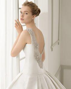 5 - vestido de noiva damasco de rosa clara 2016 estilo princesa com costas trabalhadas em marfim