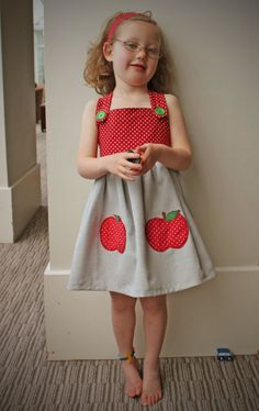 "Please don't go Etsy-ing ""apple dress"" unless you want to be killed by a boatload of cute..."