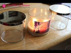DIY: How to remove wax from your Bath and Body Works Candle Jars