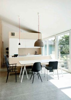 Here we showcase a a collection of perfectly minimal interior design examples for you to use as inspiration. Check out the previous post in the series: 25 Prefab Homes, Modular Homes, Interior Design Examples, Low Cost Housing, Modern Cottage, Scandinavian Kitchen, Scandinavian Design, Floor To Ceiling Windows, Affordable Housing