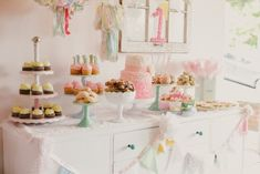 Vintage Pink 1st Birthday | Seattle Dessert Tables | Jenny Cookies