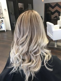 Ash brown with blonde balayage
