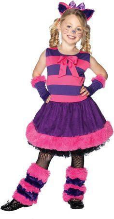 Girls Cheshire Cat Costume - Alice In Wonderland Costumes Cat Costumes, Halloween Costumes For Girls, Movie Costumes, Halloween Kids, Adult Costumes, Costume Ideas, Family Costumes, Halloween 2015, Disney Costumes