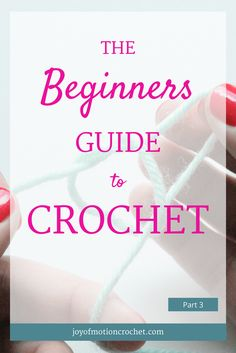 The Beginners Guide to Crochet - Part 3. Learn to crochet with Joy of Motion. In the end you'll be able to crochet a sweater. Crochet guide for beginners. Crochet stitch for beginners. Free crochet tutorial. Crochet tutorial for beginners. Easy crochet tutorial. Crochet tutorial with pictures. Crochet guide with video. Learn to crochet guide. Crochet Guides. Free Crochet Tutorials. Crochet Tutorials. Learn To Understand Crochet Patterns. Repin this to read, learn & keep it forever...