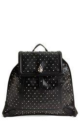 Alexander McQueen Skull Padlock Studded Leather Backpack