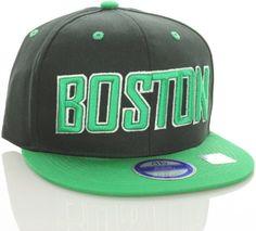 Boston Flat Bill Vintage Style Snapback Hat Cap Black Green - Celtics Colors - http://www.nbamixes.com/boston-flat-bill-vintage-style-snapback-hat-cap-black-green-celtics-colors - http://ecx.images-amazon.com/images/I/5119mTVEgxL.jpg