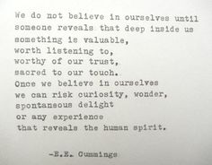 E.E. CUMMINGS Quote Hand Typed Typewriter Quote by PoetryBoutique