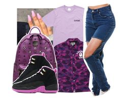 """""""2:47AM"""" by pinksemia ❤ liked on Polyvore featuring A BATHING APE and MCM"""