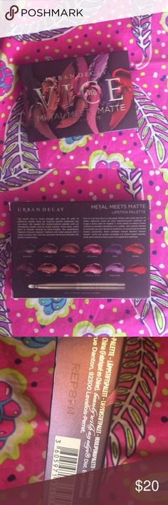 Metal meets matte lipstick palette New by urban decay. Metal meets matte lipstick palette 🎨 not opened used or swatched. Authentic. Code shown to prove authenticity. Urban Decay Makeup Lipstick