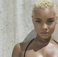 Beautiful blonde short